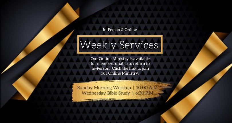 CHURCH LIVE ONLINE FROM AT HOME AD template - Made with PosterMyWall